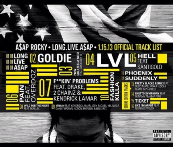 A$AP Rocky Long Live A$AP Tracklist