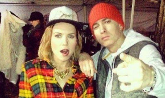 Skylar Grey & Eminem On The Set Of C'Mon Let Me Ride
