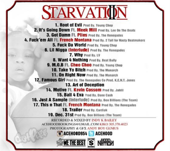 Ace Hood Starvation 2 Tracklist