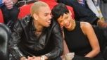 Chris Brown and Rihanna At Game