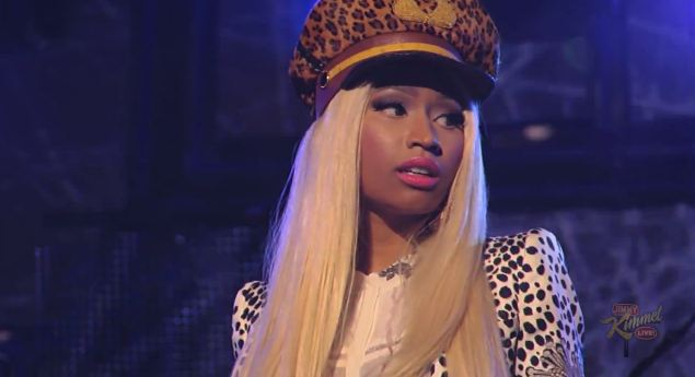 Nicki Minaj Performs Va Va Voom and Freedom On Jimmy Mimmel