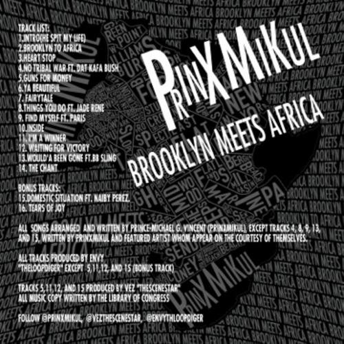 PRINXMIKUL BROOKLYN MEETS AFRICA (U.T.M.) VOL. 1 Tracklist