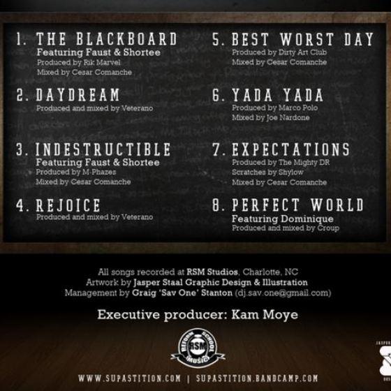 Supastition - The Blackboard EP Tracklist
