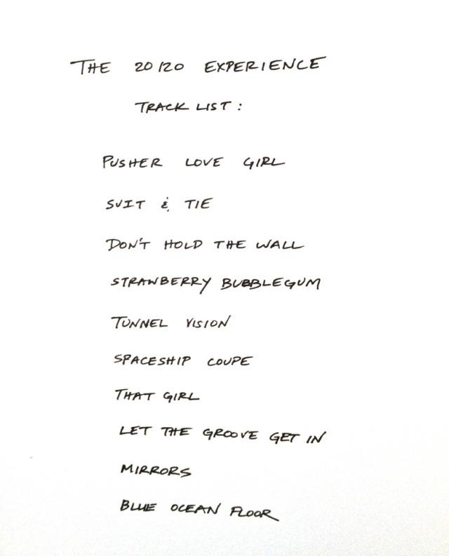 JT 20 20 Experiance tracklist (Original)
