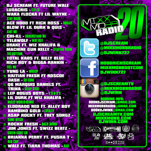 MixxMobb Radio 20 Hosted by Dj Scream & Dj Winn Tracklist