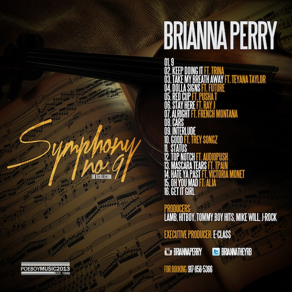 Brianna Symphony No. 9 Tracklist
