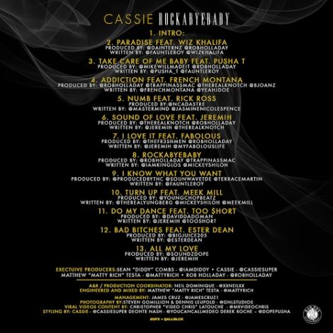 Cassie 'RockA Bye Baby' Tracklist