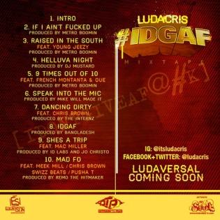 Ludacris #IDGAF (Mixtape) Tracklist