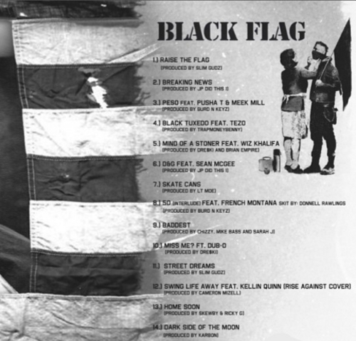 Machine Gun Kelly 'Black Flag' tracklist