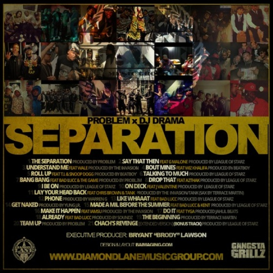 Problem 'The Separation' tracklist