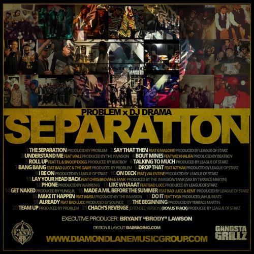 Problem 'The Separation' tracklist