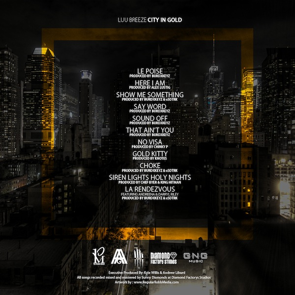 Luu Breeze 'City In Gold' Tracklist