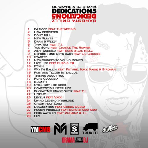 Lil Wayne Dedication 5 Tracklisting