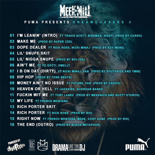 Meek Mill Dreamchasers 3 tracklist