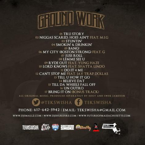 Tek Swisha Ground Work tracklisting