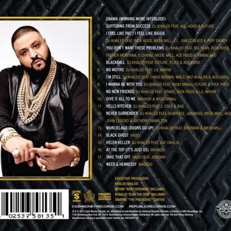 Dj Khaled 'Suffering From Success' Tracklist