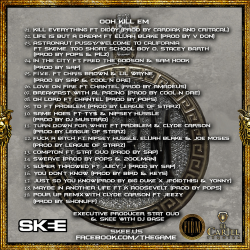 The Game 'OKE' tracklisting