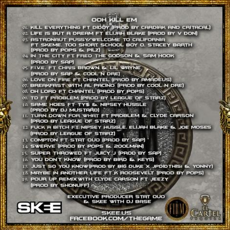 The Game 'OKE' tracklisting