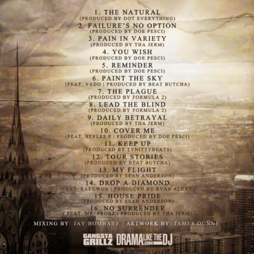 Lloyd Banks 'F.N.O - Failure's No Option' tracklisting