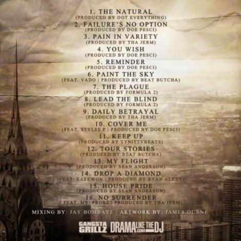 Lloyd Banks 'F.N.O - Failure's No Option' tracklisting