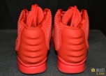 Kanye West RED NIKE AIR YEEZY 2 Back View