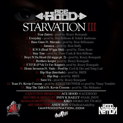 ace Hood Starvation 3 tracklisting