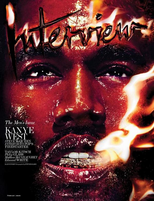 Kanye West Interview Magazine Cover February 2014 Issue