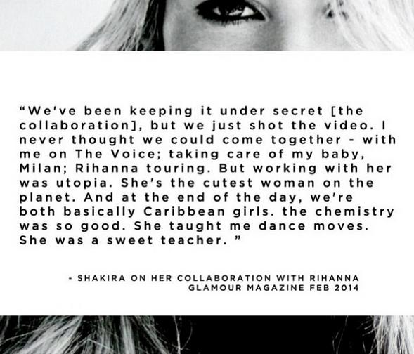 Shakira Talks Collaboration With Rihanna