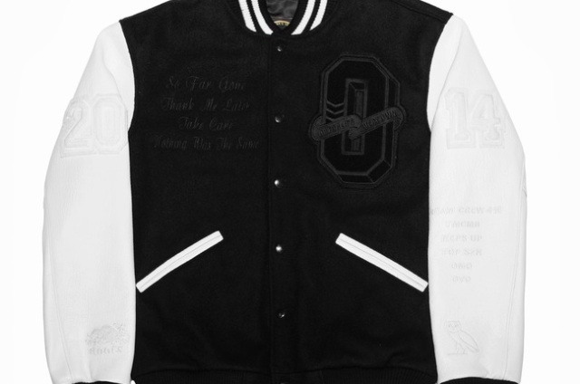Drake OVO Jacket Black White Front