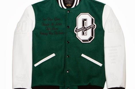 Drake OVO Roots Jacket Green White Front