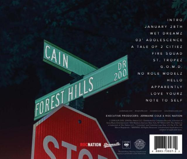J.Cole '2014 Forest Hills Drive' Tracklisting